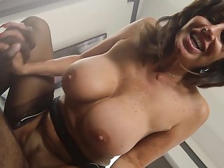 Mature maid deals master's huge black cock in guestimated modes
