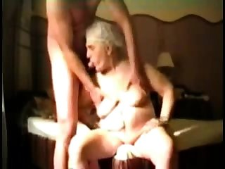 Well-endowed Granny surrounding webcam